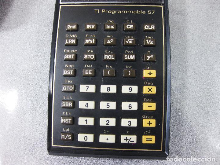 Antigüedades: CALCULADORA TEXAS INSTRUMENTS ELECTRONIC CALCULATOR TI PROGRAMMABLE 57 - Foto 3 - 286998738