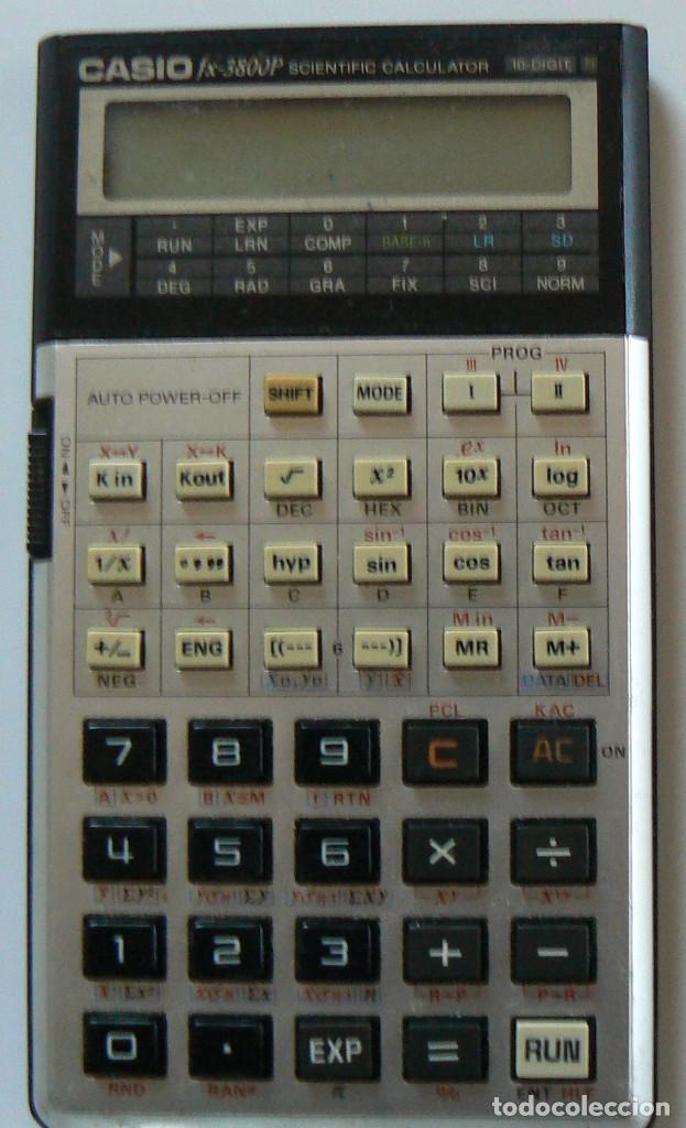CALCULADORA CIENTÍFICA CASIO FX - 3800P. (Antigüedades - Técnicas - Aparatos de Cálculo - Calculadoras Antiguas)