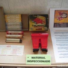 Antigüedades: CINE JIN VISOR ESTEREOSCOPICO 3D CON 10 PELICULAS EN COLOR JUGUETE ESPAÑOL DE 1954 FUNCIONANDO. Lote 287020088