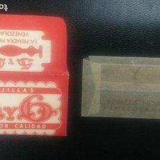 Antiquités: HOJA DE AFEITAR - CUCHILLA DE AFEITAR - 5 Y 6 - NUEVA CON SU HOJA. Lote 287084043