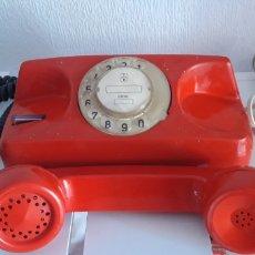 Teléfonos: RARARO Y ORIJINAL TELEFONO ROJO T Y E TELEFONIA ELECTRONICA VILLANUEVA 16 MADE IN SPAIN. Lote 287113673