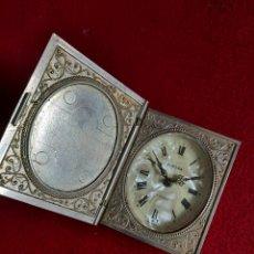 Antigüedades: DESPERTADOR PLATA Y NACAR.. Lote 287149758