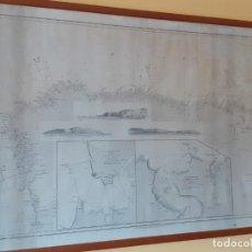 Antigüedades: CARTA ANTIGUA DE NAVEGACION DE 1846. 104 X 73 CENTIMETROS. ENMARCADA CON CRISTAL O SIN EL.. Lote 287255838