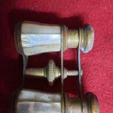 Antigüedades: ANTIGUOS BINOCULARES, PRISMATICOS DE NACAR. Lote 287310888