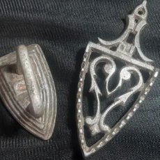 Antigüedades: PEQUEÑA PLANCHA ALUMINIO. Lote 287429278