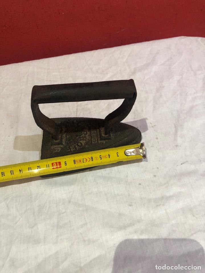 Antigüedades: Lote de 4 planchas de hierro antiguas - Foto 7 - 287454588