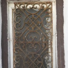 Antigüedades: REJA ARTISTICA DE FORJA. Lote 287473458