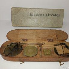 Antigüedades: BALANZA DEL SIGLO XVIII COMPLETA EN SU CAJA ORIGINAL. Lote 287491913