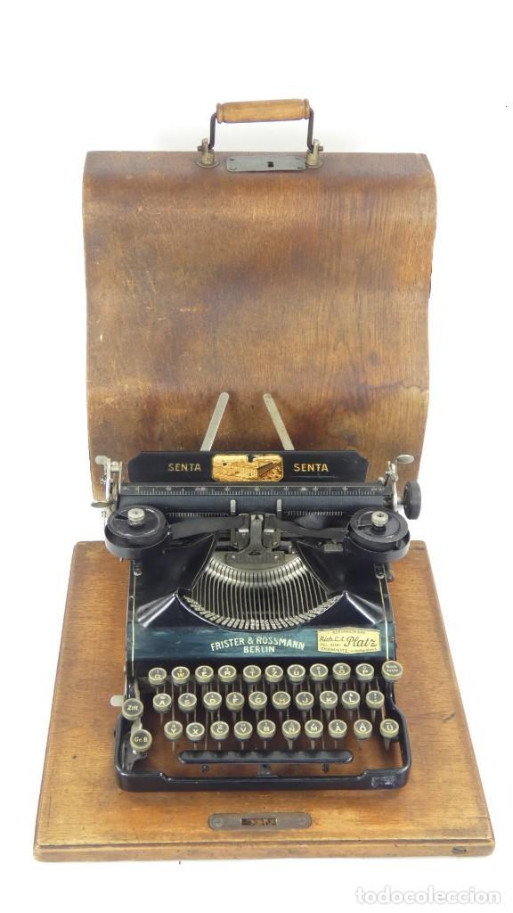 MAQUINA DE ESCRIBIR SENTA + ESTUCHE AÑO 1912 TYPEWRITER SCHREIBMASCHINE ECRIRE (Antigüedades - Técnicas - Máquinas de Escribir Antiguas - Otras)