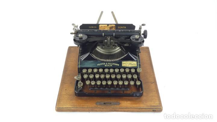 Antigüedades: Maquina de escribir SENTA + ESTUCHE AÑO 1912 Typewriter Schreibmaschine Ecrire - Foto 3 - 287622043