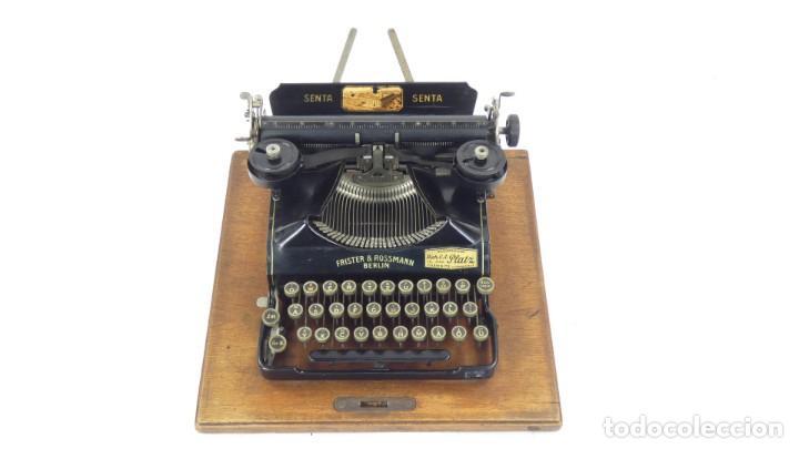 Antigüedades: Maquina de escribir SENTA + ESTUCHE AÑO 1912 Typewriter Schreibmaschine Ecrire - Foto 4 - 287622043