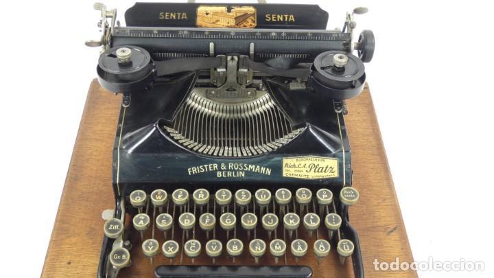 Antigüedades: Maquina de escribir SENTA + ESTUCHE AÑO 1912 Typewriter Schreibmaschine Ecrire - Foto 7 - 287622043