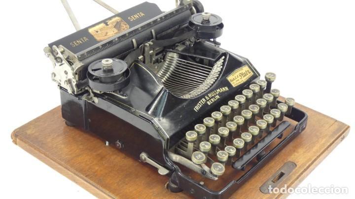 Antigüedades: Maquina de escribir SENTA + ESTUCHE AÑO 1912 Typewriter Schreibmaschine Ecrire - Foto 9 - 287622043