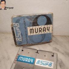 Antigüedades: EMPALMADORA MARCA MURAY (SÚPER 8) AUTOMATIC SPLICER - 8 MM MILÍMETROS - CON CAJA - BUEN ESTADO. Lote 287667268