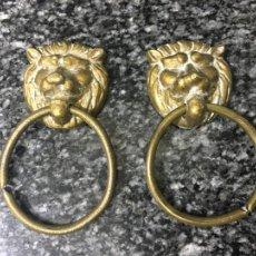 Antigüedades: TIRADORES DE BRONCE, DOS. Lote 287678178