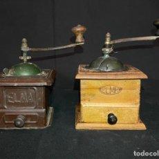 Antigüedades: PAREJA DE MOLINILLOS DE CAFE ELMA. Lote 287705098