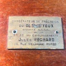 Antiguidades: OXYGENERATEUR DE PRECISION DE JULES RICHARD. Lote 287709553