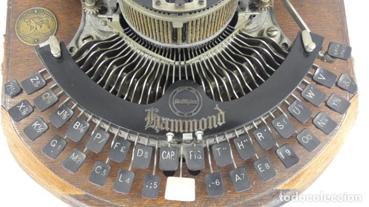Antigüedades: Maquina de escribir HAMMOND MULTIPLEX CURVA Typewriter Schreibmaschine A Ecrire - Foto 4 - 287758598