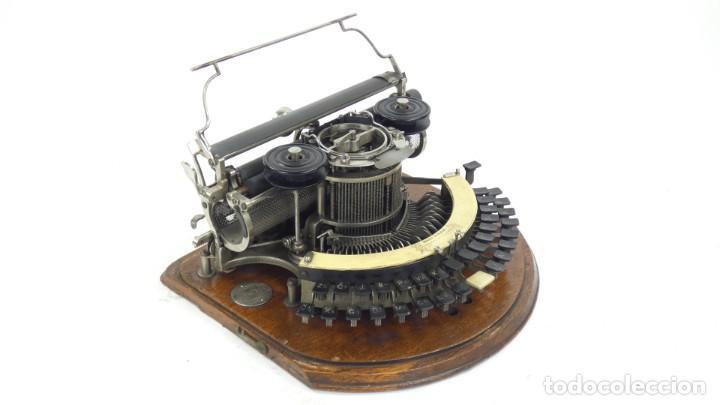 Antigüedades: Maquina de escribir HAMMOND Nº2 CURVA 1895 Typewriter Schreibmaschine A Ecrire - Foto 2 - 287763568