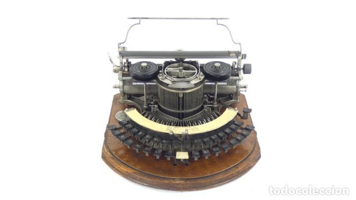 Antigüedades: Maquina de escribir HAMMOND Nº2 CURVA 1895 Typewriter Schreibmaschine A Ecrire - Foto 3 - 287763568