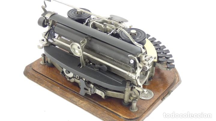 Antigüedades: Maquina de escribir HAMMOND Nº2 CURVA 1895 Typewriter Schreibmaschine A Ecrire - Foto 4 - 287763568