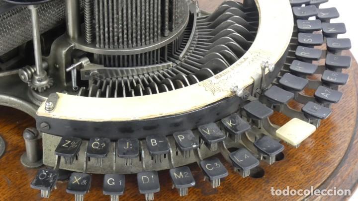 Antigüedades: Maquina de escribir HAMMOND Nº2 CURVA 1895 Typewriter Schreibmaschine A Ecrire - Foto 12 - 287763568