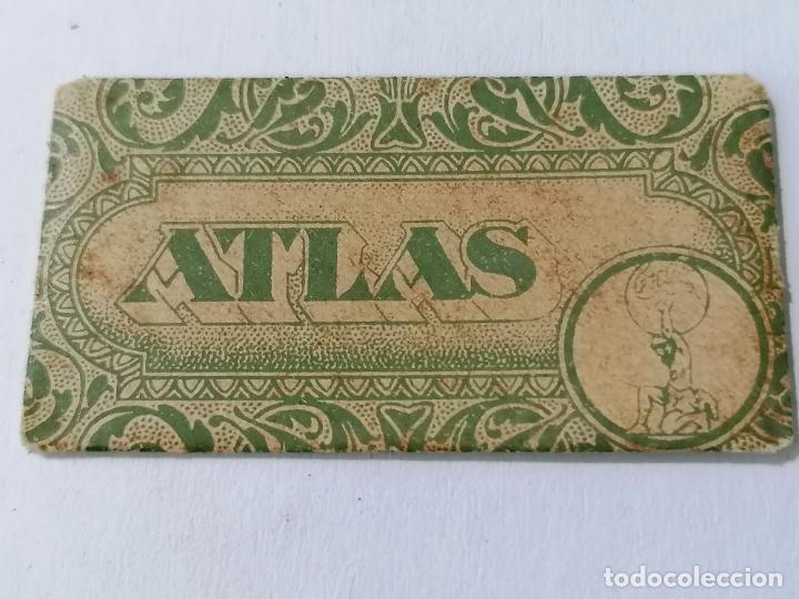 HOJA DE AFEITAR ATLAS (Antigüedades - Técnicas - Barbería - Hojas de Afeitar Antiguas)