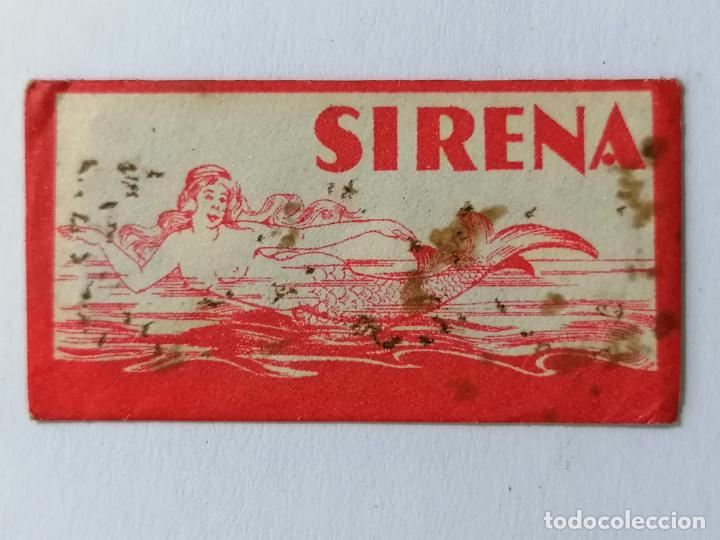 HOJA DE AFEITAR SIRENA (Antigüedades - Técnicas - Barbería - Hojas de Afeitar Antiguas)