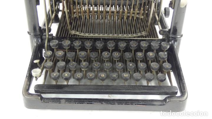 Antigüedades: Maquina de escribir FAY-SHOLES Nº6 AÑO 1901 Typewriter Schreibmaschine A Ecrire - Foto 4 - 287778463