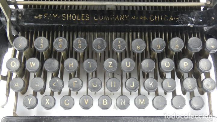 Antigüedades: Maquina de escribir FAY-SHOLES Nº6 AÑO 1901 Typewriter Schreibmaschine A Ecrire - Foto 5 - 287778463