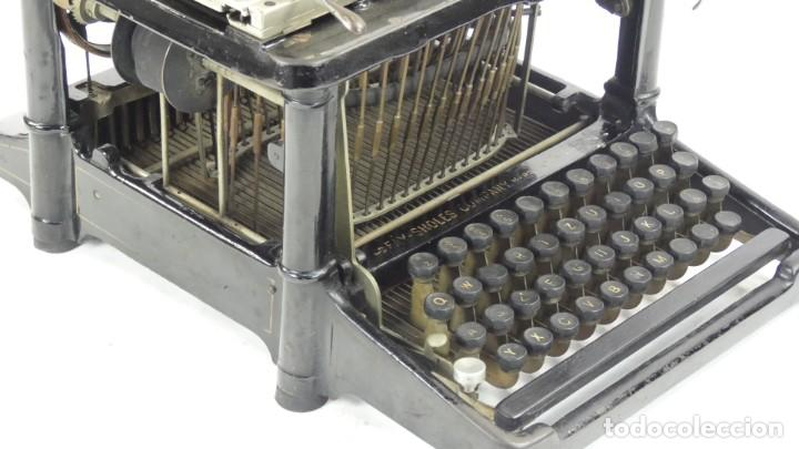 Antigüedades: Maquina de escribir FAY-SHOLES Nº6 AÑO 1901 Typewriter Schreibmaschine A Ecrire - Foto 9 - 287778463
