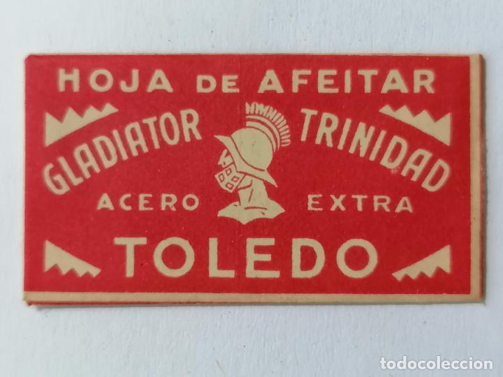 HOJA DE AFEITAR GLADIATOR - TRINIDAD, TOLEDO (Antigüedades - Técnicas - Barbería - Hojas de Afeitar Antiguas)