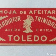 Antigüedades: HOJA DE AFEITAR GLADIATOR - TRINIDAD, TOLEDO. Lote 287779778