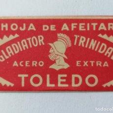 Antigüedades: HOJA DE AFEITAR GLADIATOR - TRINIDAD, TOLEDO. Lote 287779878