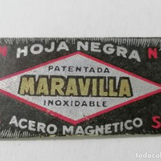 Antigüedades: HOJA DE AFEITAR MARAVILLA, HOJA NEGRA, ACERO MAGNETICO. Lote 287780788
