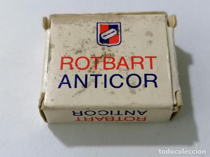 Antigüedades: PAQUETE 9 HOJAS DE AFEITAR ROTBART ANTICOR - Foto 2 - 287782423