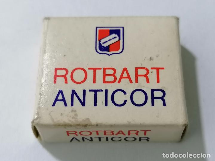 PAQUETE 9 HOJAS DE AFEITAR ROTBART ANTICOR (Antigüedades - Técnicas - Barbería - Hojas de Afeitar Antiguas)