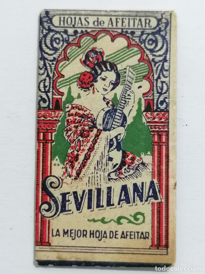 HOJA DE AFEITAR SEVILLANA, LA MEJOR HOJA DE AFEITAR (Antigüedades - Técnicas - Barbería - Hojas de Afeitar Antiguas)