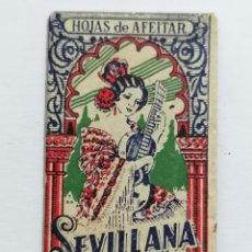 Antigüedades: HOJA DE AFEITAR SEVILLANA, LA MEJOR HOJA DE AFEITAR. Lote 287785348