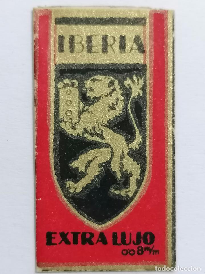 HOJA DE AFEITAR IBERIA EXTRA LUJO (Antigüedades - Técnicas - Barbería - Hojas de Afeitar Antiguas)