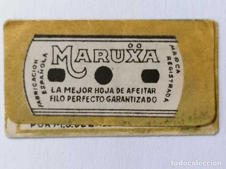 Antigüedades: HOJA DE AFEITAR MARUXA, FILO ANCHO - Foto 2 - 287786618