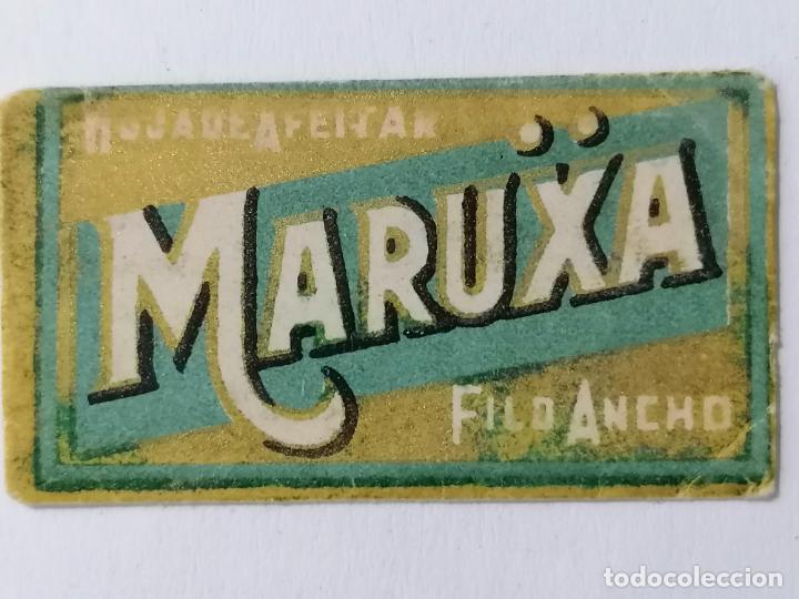 HOJA DE AFEITAR MARUXA, FILO ANCHO (Antigüedades - Técnicas - Barbería - Hojas de Afeitar Antiguas)