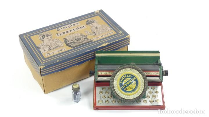 MAQUINA DE ESCRIBIR SIMPLEX MODEL R AÑO 1930 TYPEWRITER SCHREIBMASCHINE A ECRIRE (Antigüedades - Técnicas - Máquinas de Escribir Antiguas - Otras)