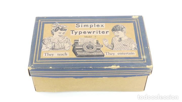 Antigüedades: Maquina de escribir SIMPLEX Model R AÑO 1930 Typewriter Schreibmaschine A Ecrire - Foto 2 - 287792998