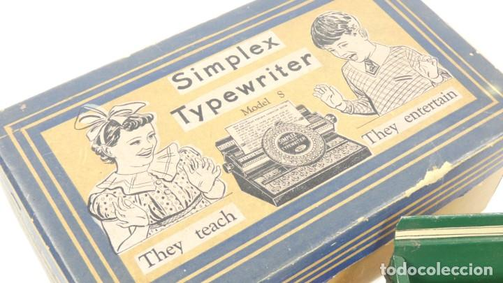 Antigüedades: Maquina de escribir SIMPLEX Model R AÑO 1930 Typewriter Schreibmaschine A Ecrire - Foto 3 - 287792998