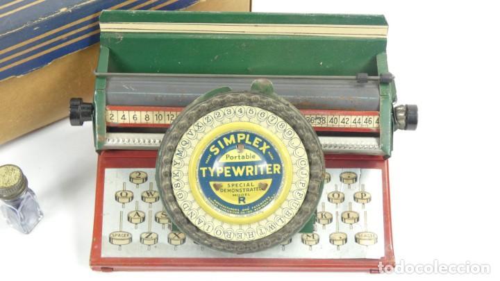 Antigüedades: Maquina de escribir SIMPLEX Model R AÑO 1930 Typewriter Schreibmaschine A Ecrire - Foto 5 - 287792998