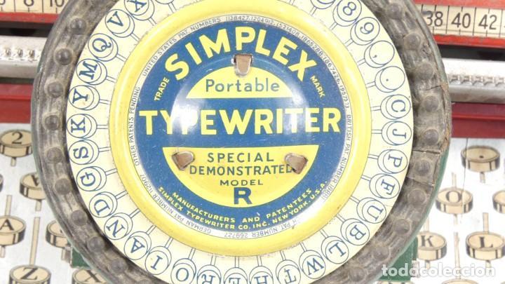 Antigüedades: Maquina de escribir SIMPLEX Model R AÑO 1930 Typewriter Schreibmaschine A Ecrire - Foto 6 - 287792998