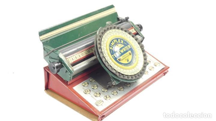 Antigüedades: Maquina de escribir SIMPLEX Model R AÑO 1930 Typewriter Schreibmaschine A Ecrire - Foto 7 - 287792998