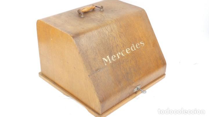 MAQUINA DE ESCRIBIR CAJA MADERA MERCEDES TYPEWRITER SCHREIBMASCHINE A ECRIRE (Antigüedades - Técnicas - Máquinas de Escribir Antiguas - Mercedes)