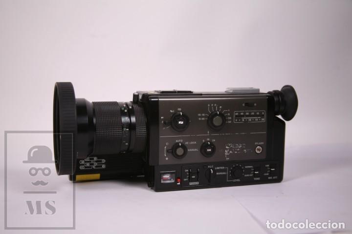 CAMARÁ DE FILMAR CINE 8MM PROFESIONAL CANON 1014 XLS AÑO 1979 - CON MICROFONO CANON DM 40R (Antigüedades - Técnicas - Aparatos de Cine Antiguo - Cámaras de Super 8 mm Antiguas)